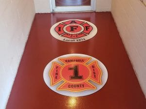 Custom Logo Floor Installation