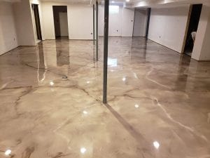 Metallic Marble Floor