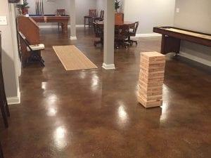 Activity Room Acid Stain Floor