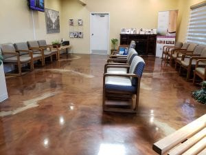 Metallic Marble Office Concrete Floors