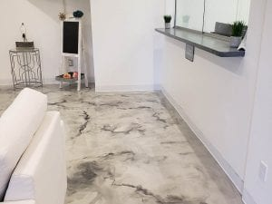 Metallic Marble Office Concrete Floors