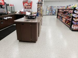 Retail Store Flake Commercial Flooring