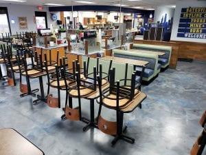 Metallic Marble Restaurant Flooring