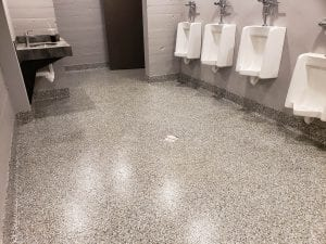 Flake Bathroom Flooring