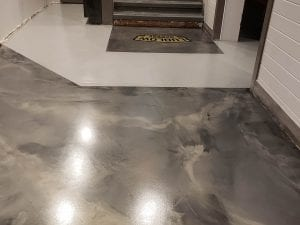 Metallic Marble Commercial Flooring