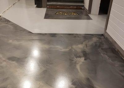 Metallic Marble Commercial Flooring