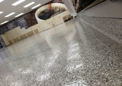 Gas Station Commercial Flake Flooring