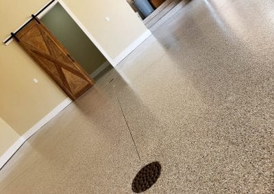 Garage Flake Floor Installation