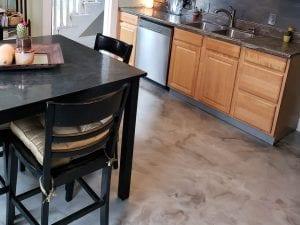 Marble Metallic Kitchen Floor