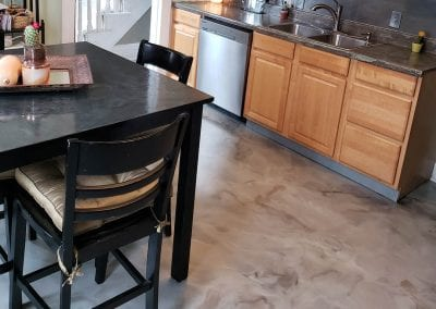 Marble Metallic Kitchen Floor