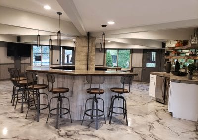 Metallic Marble Kitchen Floor