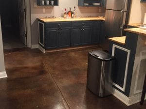 Rustic Acid Stain Kitchen Floor