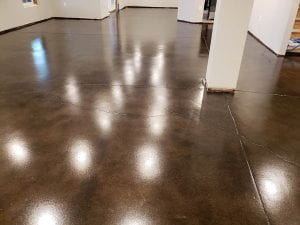 Stained Basement Floor