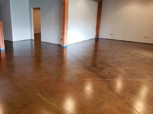 Acid Stained Basement Floor