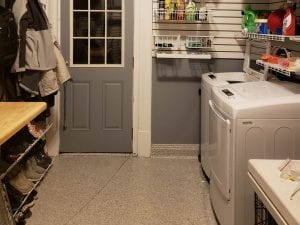 Flake Floor Laundry Room
