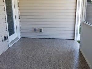Flake Floor Patio Installation