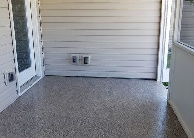 Flake Floor Patio Installation
