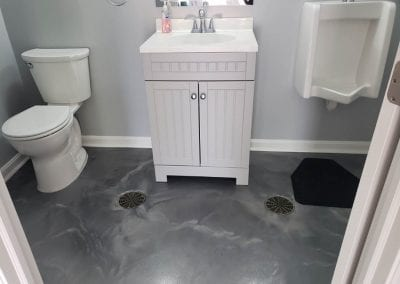 Metallic Marble Bathroom Floor