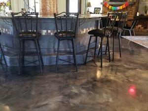 Metallic Marble Kitchen Floor