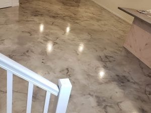 Metallic Marble Basement Floor