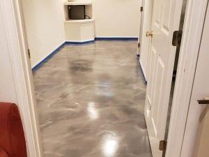 Metallic Marble Basement Floor