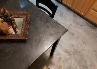 Metallic Marble Dining Room Floor
